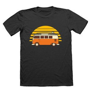 2019 Summer Style Fashion Sunset 반 남성 티셔츠-Beach Camps German Car Combi Bus Surfs Tee Shirt Y19072201