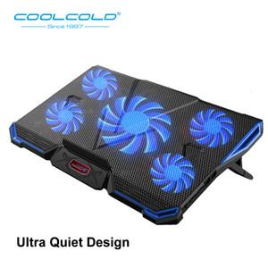조정 각도 ''15.6 ''17''notebook 태블릿 PC T190904 (11)를 들어 패드와 다섯 주도 냉각 팬 노트북 쿨러 인체 공학적 노트북을 Coolcold
