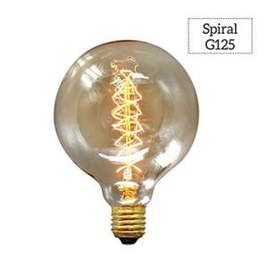 Эдисон лампа E27 220V 240V 40W Мягкого теплой белой спираль вольфрам Нить лампа G80 G95 G125 ампулы Урожай лампа
