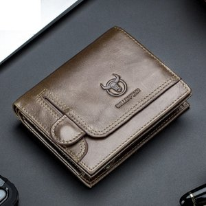 Mens Wallet BMS Deisgner multifonctions Petit permis de conduire Porte-Monnaie Carte photo Porte simple Atmosphérique de portefeuille d'affaires 2020 New Style