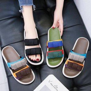 2020 Zarif Kız terlik Yüksek Topuklar Kadınlar ilmek Yaz Kadın Seksi Stiletto Yüksek Topuklar Nedime Ayakkabı Bowknot terlik