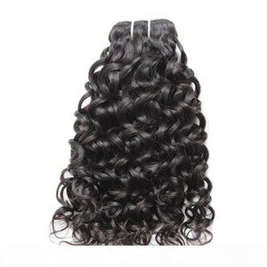 Brazilian Hair Bundles Remy Virgin Human Hair Weaves Extensions Double Weft 8A Mink Hair Water Wave Bellahair