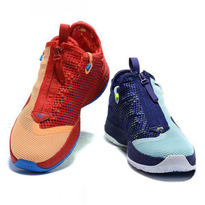 Paul George PG 4 4S PALMDALE IV P.GEORGE Kids Basketball Shoes Cheap PG4 Starry Blue Orange Red Black Sports Sneakers