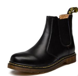Britische Weinlese klassische Stiefel aus echtem Leder Stiefel männlicher starken Ferse Motorrad-Frauen-Schuh-Tropfen-Verschiffen
