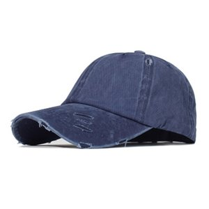 4 Colors Ponytail Baseball Cap Cotton Washable Cap Pure Color Outdoor Sunscreen Outdoor Fishing Fisherman Hat IIA196
