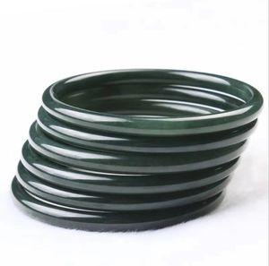 Factory direct Xinjiang Hetian jade female natural jade bracelet wholesale jade bracelet fine round blessing