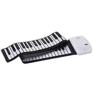 Portátil 88 chaves Roll Up Piano Piano flexível de silicone suave eletrônico teclado embutido alto falante recarregar a bateria