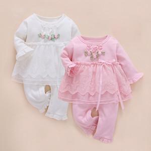 Neugeborenes Baby Mädchen Kleidung Infant Set Zwillinge Ein Jahr Robe Winter Baby Strampler Langarm Baumwolle Roupas Infantis