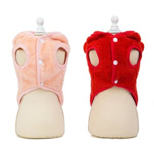 Pet Autumn And Winter Velvet 2-legged Rabbit Ears Hooded Coat Small And Medium Dogs Cold Weather Warm Jacket