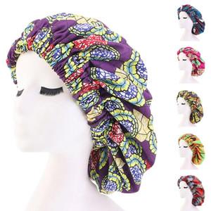 Drucke Frauen Nachtschlaf Kappen-Haar-Bonnet-Hut-Kopf-Abdeckung Satin Muslim Turban Wrap Beanie Skulliea Hair Care-elastische Band-Mode