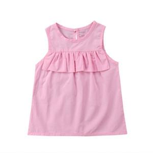 Pudcoco Infant neonate vestiti di cotone balze senza maniche al ginocchio Abiti Outfits 1-4T
