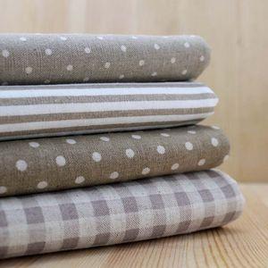Milk Multi Geometric Pattern gray Quilting Cotton linen frick bundle DIY home textile Cloth art for patchwork 22 * 24cm