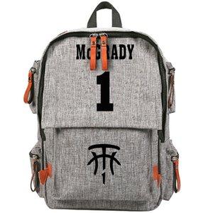 T mac Rucksack Tracy Lamar McGrady Tagesrucksack Basketbal Pure Color Schultasche Canvas Packsack Rucksack Sportschultasche Outdoor-Daypack