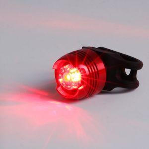 LED haute étanche vélo Faire du vélo avant arrière à la qualité Casque Red Lights Flash de la sécurité Avertissement lampe