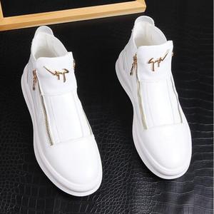 Moda casual dos homens sapatos de casamento festa tênis confortáveis homens sapatos de caminhada de alta qualidade tendência apartamentos sapato p278