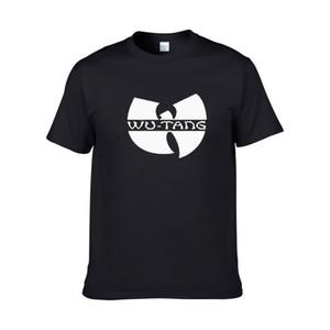 Homens Moda Verão Novo Wu Tang Clã T-shirts Música Hip Hop Tshirts Europeu tamanho Grande Camisas de Algodão T XS-XXL