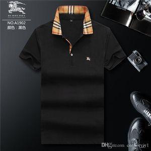 18ss Encuentra lujosos diseñadores para hombre Camisetas de polo Camisa de verano de manga corta Turn Down Collar de manga corta Tops Camisetas polo