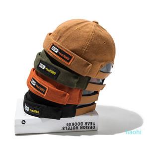 2019 New Men Cotton Hip Hop Hat Beanie Adjustable Cap Retro Vintage Cuffed Short Watermelon Skullies Beanies Winter Hat Skullcap