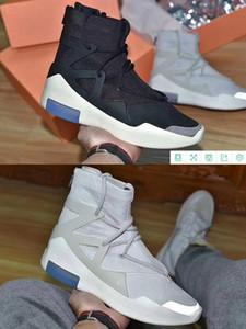 Страх Божий 1 Light Bone Black Mens 2019 Дизайнер кроссовки Мода FOG Подушка Boots Спорт зум Повседневная обувь US7-11
