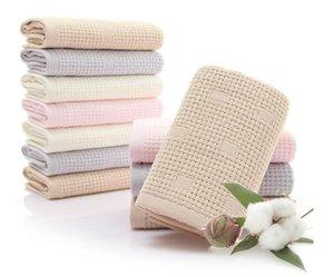 feinste Gesichtstuch-Klasse AAA Anti-Bakterie Hautpflegetücher Baumwolle der doppelte Schicht Gaze Hand Haartuch weichen, saugfähige Baumwolle Anti-Milben-2pc / lot