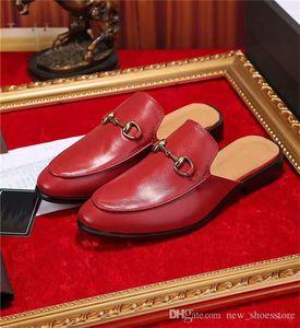 Mode Femmes Hommes Luxe en cuir Mocassins Muller Mocassins Chaussures avec boucle pantoufle Tiger Chaussons Avslappnad Mules Flats Chaussures Baskets