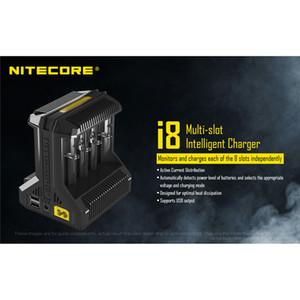 Новый горячий аутентичный Nitecore I2 I4 I8 D2 D4 универсальный Intellicharger дисплей зарядное устройство для 18650 18350 18500 14500 Li-on батареи 100% оригинал