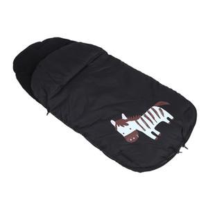 Universal Windproof infantil Baby Stroller dormir assento Bag footmuff Car Bunting Bag Stroller Carriage Pé Cover (Black)