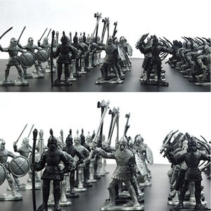 60Pcs Set Middle Ages Military Soldier Toys Mini Classic Soldier Weapons for Model Sandbox Figures Toys for Children Gifts