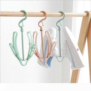Plastic Shoe Racks Underwear Drying Rack Hook Hanger Shoe Drying Rack Small Hanging Rack for Outdoor Random Color
