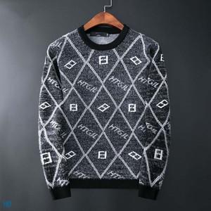 свитер мужской свитер Medusa длинным рукавом моды алфавит вышивка трикотаж итальянский дизайнер зимой свитер европейский и американский стиль