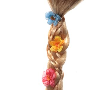 YOFEEL Девочки Рапунцель парик Детский плетенки Подарок для Birthday Party Holloween Cosplay питания детей Falsa волос принцессы парик косичек