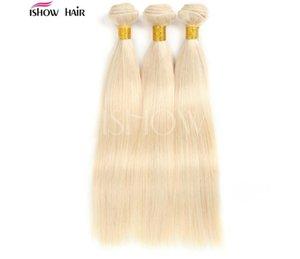 avon Remy Hair & Virgin Hairs Human Hair Weaves Peruvian Virgin Hair Straight Body Wave 613 Blond fzp199