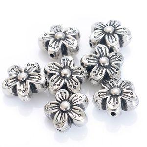 120pcs 16 * 8 MM vintage inspirou o projeto do estilo étnico acrílico antigo Flor Stripe Spacer Bead para DIY Bracelet fazer jóias