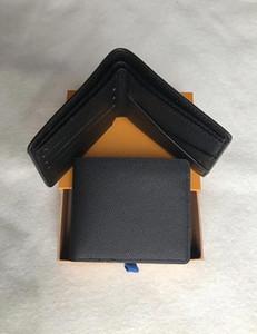 2020 marca corta de cuero cartera cartera de los hombres del diseñador monedero con la caja, marco de la bolsa de polvo manual de una variedad de estilos