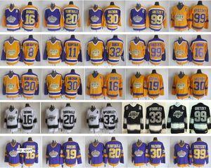 LA الملوك الفانيلة لوس انجليس هوكي ريترو 99 اين Gretzky 30 روجاتين فاشون 33 مارتي مكسورلي 16 مارسيل ديون 20 لوتك روبيتايل
