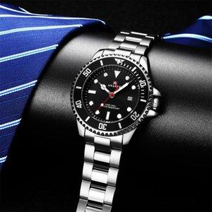 Los nuevos hombres de la moda del reloj de lujo de agua de superficie impermeable Fecha reloj para hombre Relojes de cuarzo reloj Relogio Masculino para el amigo del regalo del muchacho
