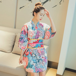 Dress Robe Party Girl Pieces Gown Costumes Kimono Vintage Anime Sweet Asian 2 Set Cosplay Japanese Clothing Woman Yukata Acqex