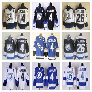 Vintage CCM Tampa Bay Lightning 4 Винсент Лекавалье Джерси Хоккей 26 Сан-Луи-Джерси вышивки C Patch Для любителей спорта качества