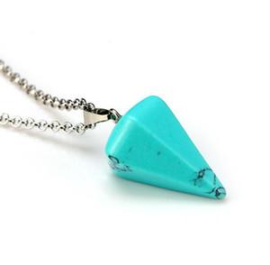 Natural druzy drusy pedra de cristal colar de pingente de ponto cura chakra presente de prisma de couro hexagonal colar de corrente