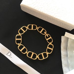 D home CD letters interlocking gold plated bracelet women's ornaments High version