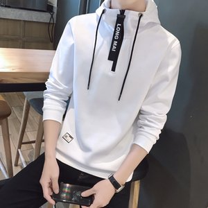 2020 sweater fashion Top pullover coat hooded all-match autumn pullover T-shirt men's youth sports top