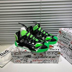 Treinador Men # 39s e mulheres # 39s Moda Sneakers Iconic Luxury Men # calçados casuais 39s de luxo com couro Crochet Lace Sneakers3U1I