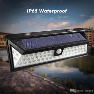 Водонепроницаемый 54 LED солнечный свет 2835 SMD белый солнечной энергии Открытый сад свет PIR датчик движения Тропинка Настенный светильник 3.7V