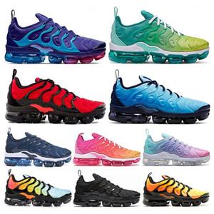 2020 hombre de alta calidad de los zapatos corrientes Entrenadores Cojines TN manera más del vuelo Mujeres Azul Menta luz actual zapatillas de deporte con la caja