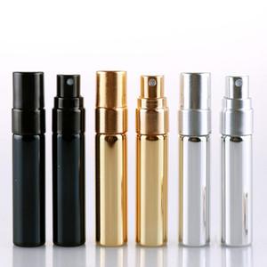 5ML Portable Spray Bottle Glass Bottles lid Transparent Glass Spray Bottle Empty Transparent Refillable Perfume Packing Bottles LX2122