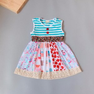 Striped singlet dress present of Baby Girls Dress Apparel Accessory