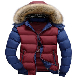Designer Mens Puffer Coat Hooded Collar Classic Overcoats Windbreaker Parkas Mens Winter Coats Clothes for Men Patchwork Warm Outwear 7XL