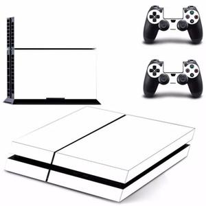 Branco da etiqueta da pele para PS4 Play Station 4 Console 2 Controlador Protector Pele