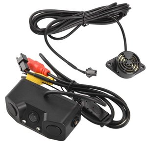 3 in 1 Car Parking Sensors with Backup Rear Camera No Drill No Damage to Car LED Light Sensor Detector Buzzer Alarm Park