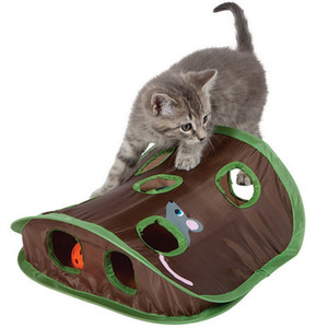 Cat Tunnel faltbare Haustier-Katzen-Spielzeug Lernspielzeug Mauseloch Katzen fangen Funny Ball Bell Pet Supplies